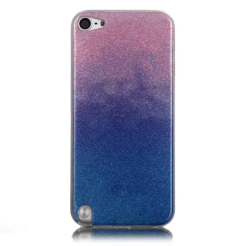Gradient Color Glitter Powder TPU Gel Cover for iPod Touch 6/5 .