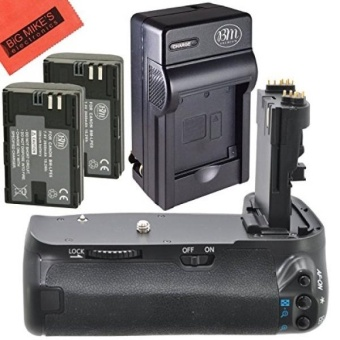 Grip Kit for Canon EOS 60D Digital SLR Camera Includes Vertical Grip + Qty 2 Replacement LP-E6 Batteries + Rapid AC/DC Charger + More!! - intl