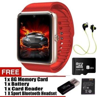 GT08 Smart Watch dengan tangan - panggilan gratis / kamera / Bluetooth Wireless Connect untuk Android & iOS