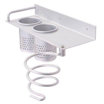 PENAWARAN Hair Dryer Storage Organizer Rack Comb Holder Wall MountedStandBathroom Set – intl TERMURAH