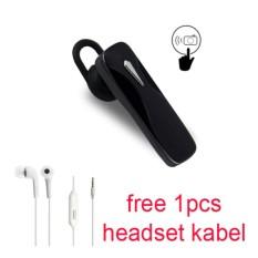 Handsfree Bluetooth + Hedset Kabel For Sony Xperia  E4/E4 Dual/E3/E3 Dual - Hitam