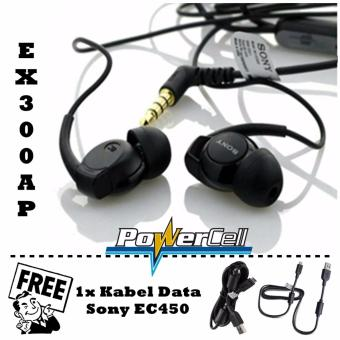 Handsfree Sony EX300AP Stereo In-Ear + Gratis Sony Kabel Data EC450