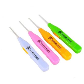 Hanifah Store - 3 in 1 LED Flashlight Earpick Korek Kuping LED Plus Tweezer - Random