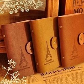 Hanifah Store - Dompet Kulit Kartu Nama Motif Paris / Wallet Card Guard Organizer 24 Card Leather - Ukuran Saku - - 5