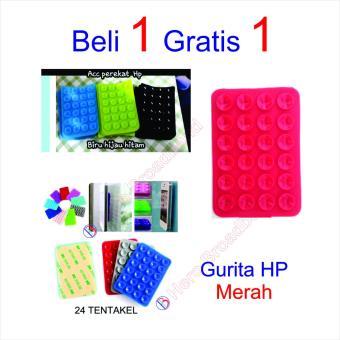 Gambar HB Tempelan Belakang HP Stand Holder Gurita 24 Tentakel Beli 1 gratis 1