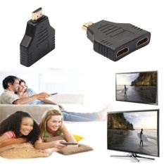 HDMI Male To HDMI Female 1 to 2 Way Splitter Adapter Cable For HDTV Hot DH