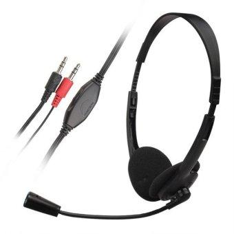 Headphone Stereo Headphone Headset Dan Mikrofon Untuk Komputer PC - 5