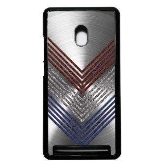 Heavencase Case Casing Asus Zenfone 6 Hard Case Motif Kayu Chevron11 - Hitam