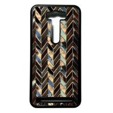 Heavencase Case Casing for Asus Zenfone 2 Laser Ze500kg Case Hardcase Motif Batik Kayu Chevron 08