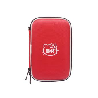 Hello Kitty Portable Gadget / HDD Hardcase Protector Ribbon Simple - Merah