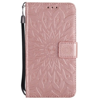 Hicase Anti-Scratch Protective Cover For Xiaomi Redmi Note 4X Sunflower Style PU Leather Flip Kickstand Wallet Case Rose Gold - intl