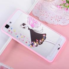 Hicase Cute Pink Soft TPU Case dengan Glitter Bling untuk Vivo X5Max Hitam Rok Girl-Intl