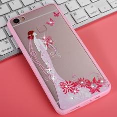 Hicase Cute Pink Soft TPU Case dengan Glitter Bling untuk VIVO Xplay5 Princess-Intl