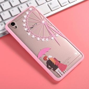 Harga Hicase Cute Pink Soft TPU Case With Glitter Bling For Oppo A37 Ferris wheel intl Online Murah