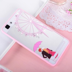 Hicase Cute Pink Soft TPU Case With Glitter Bling For Vivo X5Max Ferris wheel - intl