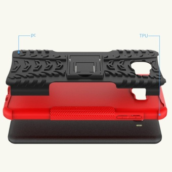 Hicase Detachable 2 in 1 Shockproof Tough Rugged Dual-Layer Case Cover for Samsung Galaxy C9 PRO  Red - intl - 3