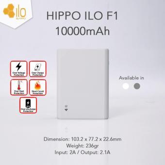 Hippo Powerbank Ilo F1 10000mAh - Abu-abu