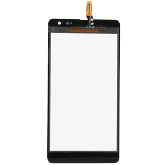 Hitam 24 layar sentuh Digitizer untuk Microsoft Nokia Lumia 535 2C-