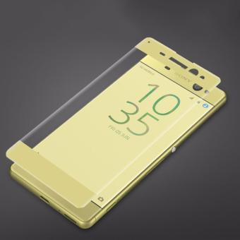 HMC Sony Xperia XA Ultra / F3215 - 2.5D Full Screen Tempered Glass - Lis Gold