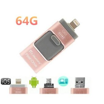 Hot Sale 64GB 2.0 USB i-Flash Drive U Disk Memory Stick StorageAdapter USB Flash Drive For iPhone OTG Phone Android Computers 3 IN1 - intl - 2