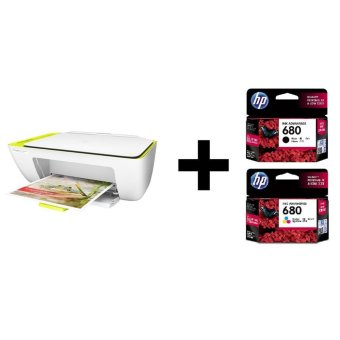 HP Deskjet Ink Advantage 2135 + Tinta Ori 680 Black + Tinta Ori 680 Color
