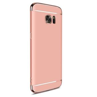 Hybrid 3 In1 Phone Case dengan Full HD cakupan Tempered Glass / Hard plastik PC Matte ponsel pelindung kembali Cover Shell untuk Galaxy S7 Edge - 3