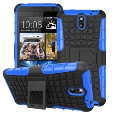 Hybrid Armor Rugged Hard Case Cover Stand Skin For HTC Desire 610 Blue - intl