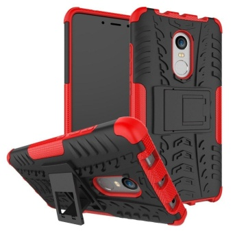 Hybrid Rugged Heavy Duty Armor Hard Back Cover Case with Kickstand for Xiaomi Redmi Note 4X / Xiaomi Redmi Note 4 / Hongmi Note 4 5.5 Inch - intl