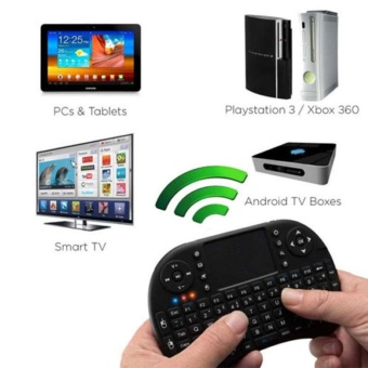 I8 2.4ghz Black English Version Mini Wireless Touchpad Keyboard ForAndroid - intl