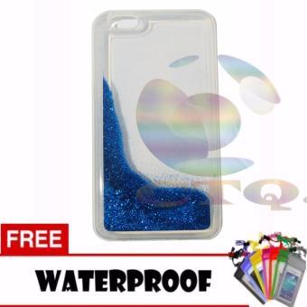 Icantiq Case Oppo F3 Softcase Water Glitter Soft Back Case /Sillicone Blink Blink Gliter /