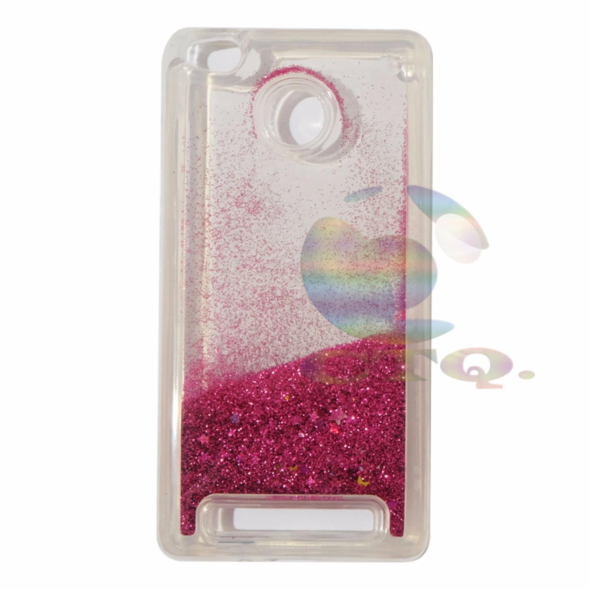 Icantiq Case Xiaomi Redmi 3S Softcase Water Glitter Soft Back Case/ Sillicone .