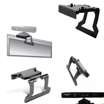 Harga New TV Clip Clamp Mount Plastic Stand Holder for Xbox 360 Xbox360 Kinect Sensor - intl