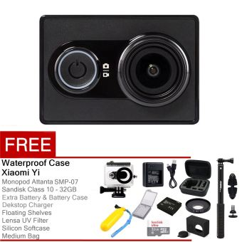 Harga Xiaomi Yi Action Camera - 16 MP - Hitam + Complete Package