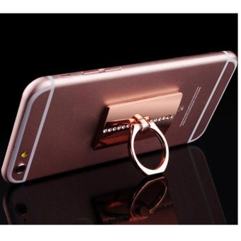 Harga Bling Diamond 360° Rotating Ring Stand Mount Holder For iPhone 6 Plus Rose Gold - intl