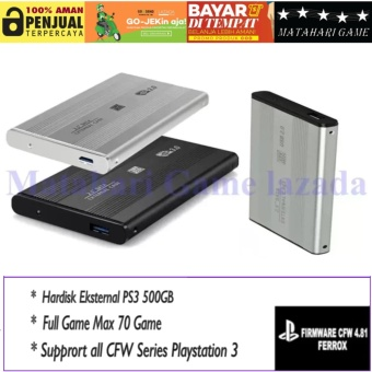 Harga Hardisk Eksternal PS3 500GB - Support All CFW Series Playstation 3