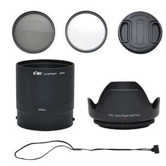 Harga 67MM UV CPL FILTER KIT+LENS ADAPTER+HOOD+CAP FOR NIKON COOLPIX P510 P520 P530 - intl