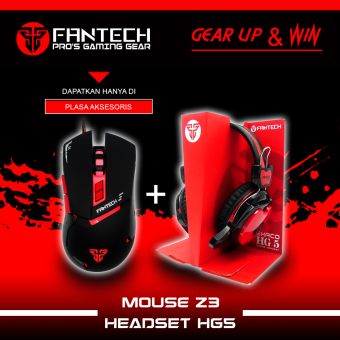 Fantech Mouse Gaming Z3- Hitam + Fantech Headset Gaming Hg5- Shaco
