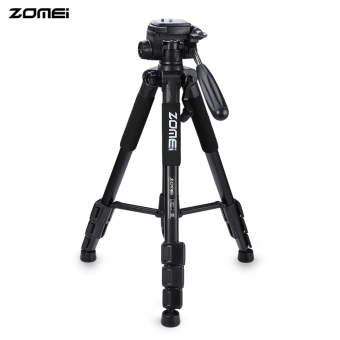 Harga Zomei Q111 56 Inches Lightweight Professional Camera Video Aluminum Tripod with Bag (Black)