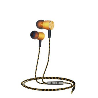 Harga Plextone X41M Noise Cancelling IN-Ear Earphones Magnetic Sport Running Headset - Gold - intl