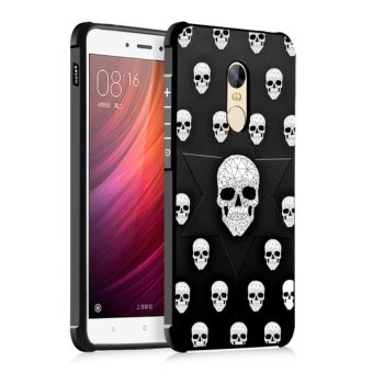 Harga Silicone Back Cover Colorful Painting Protective Case For Xiaomi Redmi Note 4 (Skull) - intl