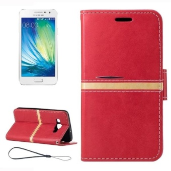 Harga For Samsung Galaxy A3 / A300F Crazy Horse Texture Horizontal Flip Leather Case With Holder and Card Slots and Wallet and Photo Frame and Lanyard(Red) - intl