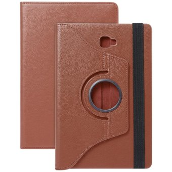 Harga PU Leather 360 Degree Rotating Back Case Holder Protective Cover for Samsung Galaxy Tab A / A6 10.1 / P580 / P585 - intl