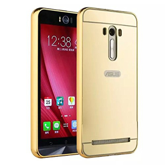 Harga Case For Asus Zenfone Selfie Bumper Slide Mirror - Gold