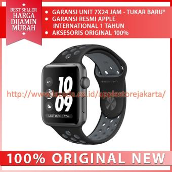 Harga APPLE Watch Series 2 Nike+ 38mm Space Gray Aluminum Case with Black Nike Sport Band