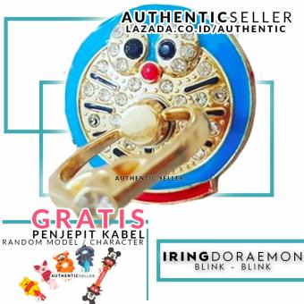 Harga Authentic Luxury Iring Blink Blink Doraemon Ring Grip Stand Smartphone Gratis Penjepit Kabel Karakter