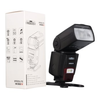 Harga INSEESI IN560IV Wireless Universal Flash Speedlite GN50 with LED light for Nikon D3100 D5100 D7000 D7100,Canon 650D 60D 70D 5DMarkiii,Pentx Cameras