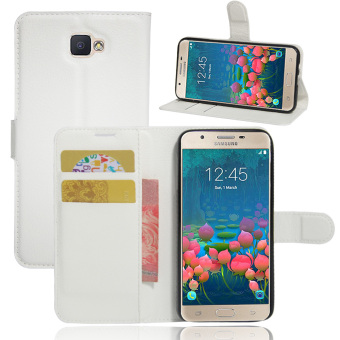 PU Leather Wallet Case Cover for Samsung Galaxy On5 2016 / Samsung Galaxy J5 Prime (White) - intl