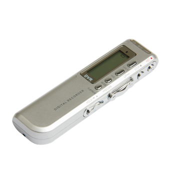Harga 8GB 650Hr USB LCD Screen Digital Audio Voice Recorder Dictaphone MP3 Player Silver - intl