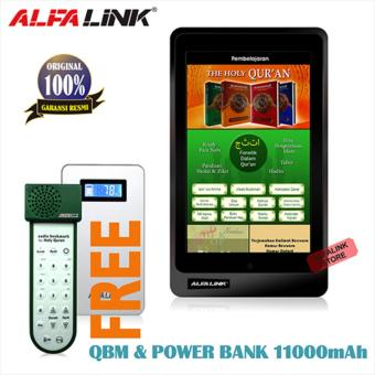 Harga ALFA LINK Tablet QT-70 Black Free Power bank 11.000 Mah + Free QBM