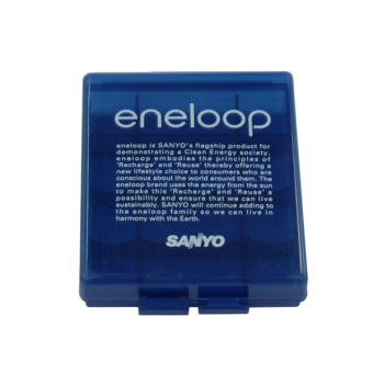 Harga Sanyo Eneloop Battery Case - Kotak Battery Original for AA or AAA - Biru